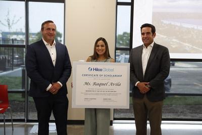 Jeremy Grey, vicepresidente ejecutivo de Hilco Redevelopment Partners; Raquel Avila; y Roberto Perez, director ejecutivo de Hilco Redevelopment Partners (PRNewsfoto/Hilco Global)